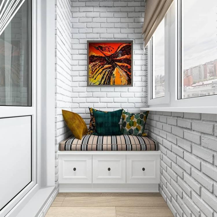 Дизайн балкона. Как создать уютное местечко для утреннего кофе, а также вечернего чая 4
