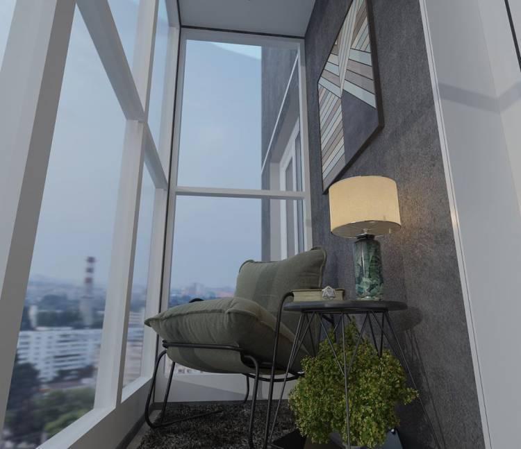Дизайн балкона. Как создать уютное местечко для утреннего кофе, а также вечернего чая 5