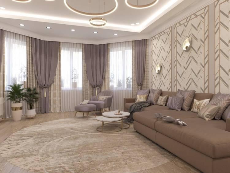 Дизайн зала. Просторное и лаконичное оформление интерьера по последним тенденциям 2