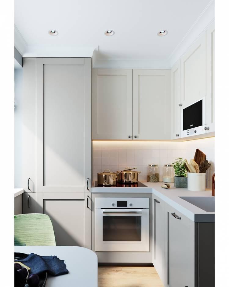 Дизайн маленькой кухни. Как разметить необходимый набор кухонной техники на небольшой площади 1