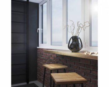 Дизайн балкона. Как создать уютное местечко для утреннего кофе, а также вечернего чая. превью