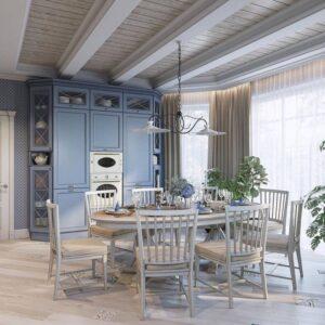Дизайн кухни в частном доме. Основные стилистические направления и современные тенденции. превью