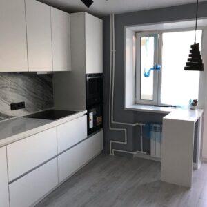 Ремонт кухні.  Дизайн стелі, стін, покриття для підлоги.