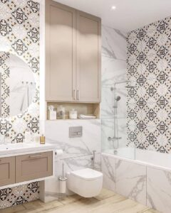 Ванна кімната дизайн.  Грамотна організація, якісні матеріали та правильне освітлення