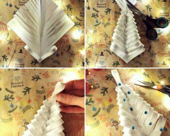 гирлянда из бумажных украшений