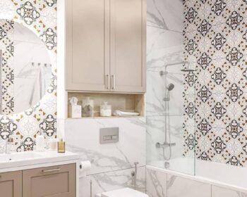 Ванная комната дизайн. Грамотная организация, качественные материалы и правильное освещение. превью
